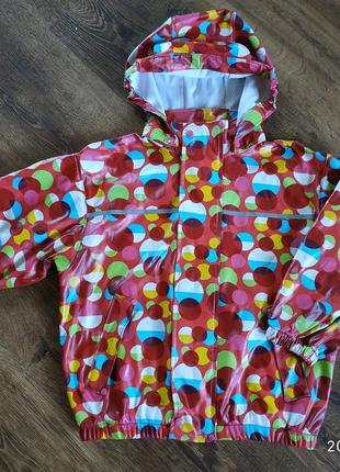 Фирменная куртка-дождевик на девочку 3-4 лет