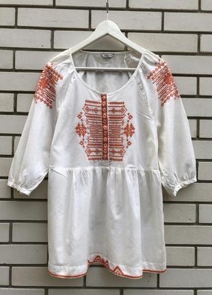 Вышиванка блузка этно бохо стиль indigo marks & spencer
