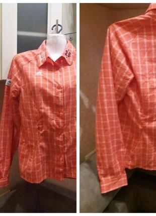 Рубашка в клетку adidas- slim---m l распродажа