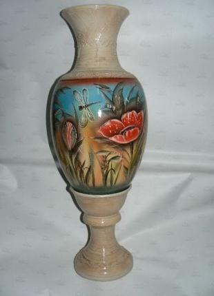 Напольная керамическая ваза,роспись.