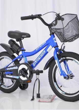 Детский велосипед INTENSE N-200 14″ (Голубой), велосипед для маль