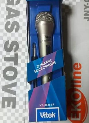новий мікрофон Вітек модель-VT-3838 SR.Ціна-90 грн