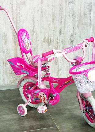 Детский велосипед BARBIE 12″, велосипед для девочки