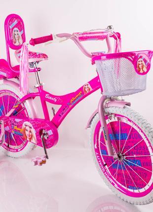 Детский велосипед BARBIE 18″, велосипед для девочки