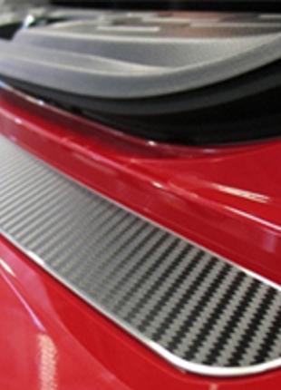 Накладка на бампер Nissan Note 2005- карбон