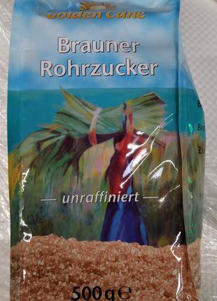 Сахар тростниковый Brauner Rohrzucker 500г коричневый Германия