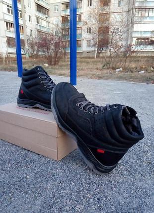 Зимнии ботинки эко нубук