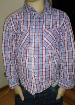 Рубашка, сорочка детская утеплённая на подкладке
