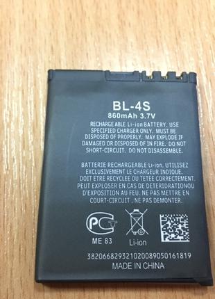 Аккумуляторная батарея (A) Nokia BL-4S 860mA