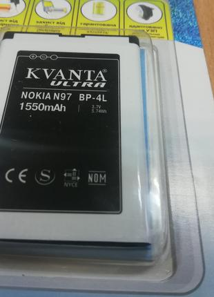 Аккумуляторная Батарея Nokia BP-4L 1550 mA усиленная