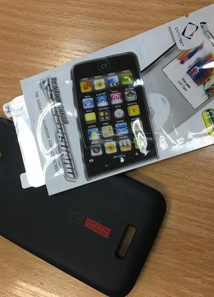 Оригинальный силиконовый чехол для HTC ONE X + Защ. Пленка