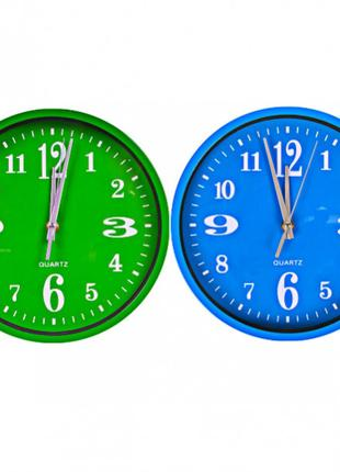 "Настенные часы Х2-28 ""Круг цветной циферблат"" 24,5*4см 562J3"