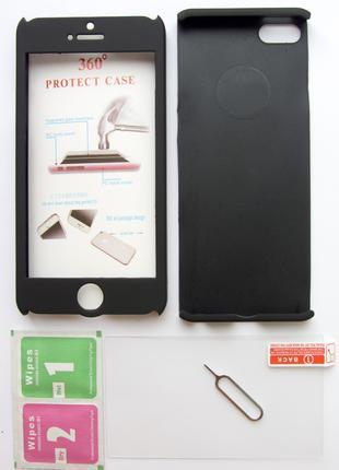 Защитный бампер чехол 360 для Apple iPhone 5, 5S, SE и др модели