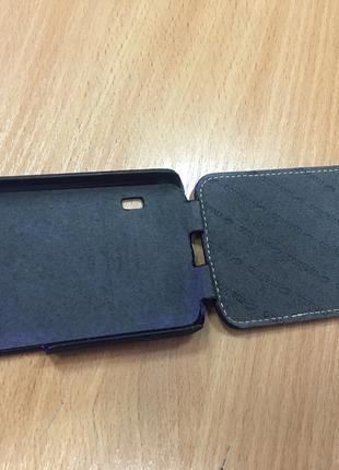 Чехол книжка оригинальный кожаный Флип для LG L7 II Dual P715 ...