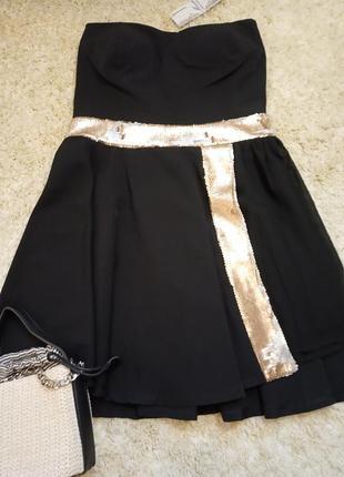 Нарядное вечернее платье пайетки mivite, italy