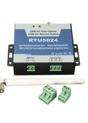 GSM контроллер RTU 5024 для управления шлагбаумом замком элект...