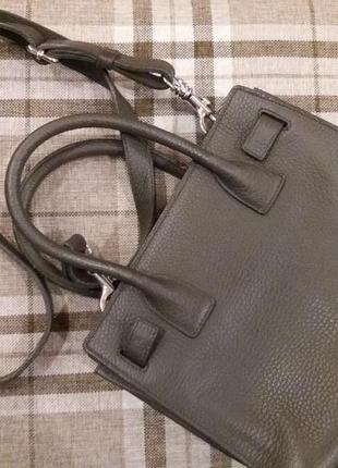 Небольшая сумочка из натуральной грубой кожи ручная робота