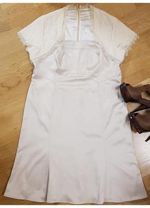 Шикарное платье с кружевным болеро berkertex