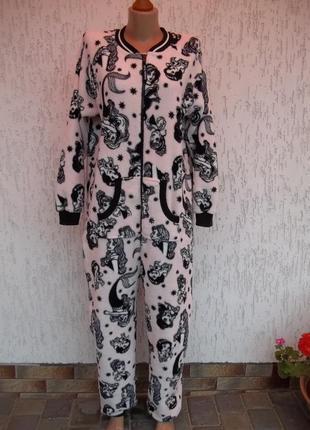 48 / 50р флисовый толстый комбинезон пижама кигуруми