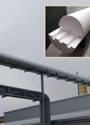 Теплоизоляция труб и теплотрас, скорлупа для утепления  труб