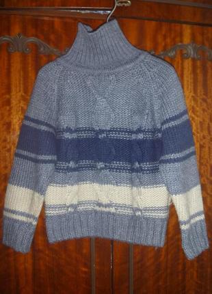 Шерстяной свитер-гольф 104р