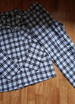Фланелевая пижама livergy. размер m, l, xl, xxl