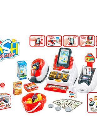 Детский игровой кассовый аппарат 668-48 со звуком и светом