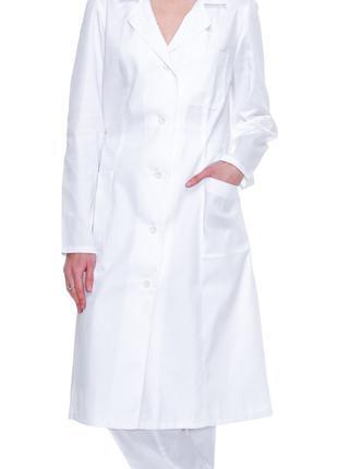Халат медицинский женский  из белой саржи