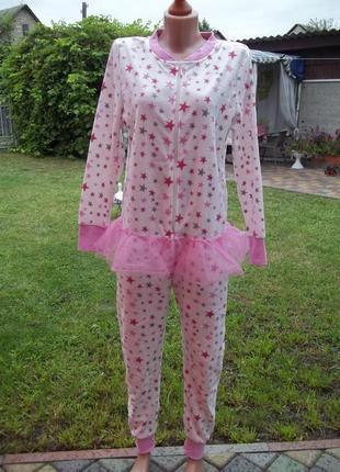 ( 44 р) флисовый комбинезон пижама кигуруми
