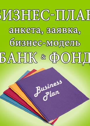 Разработка бизнес-плана для банка, заполнение финансовых анкет...
