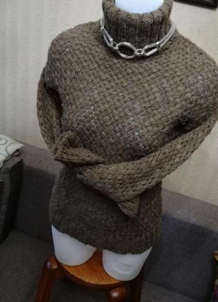 Pull&bear свитер грубой вязки высокая горловина размер xxs-xs