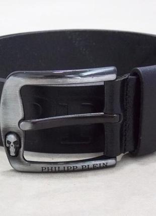 Мужской кожаный ремень philipp plein + коробка