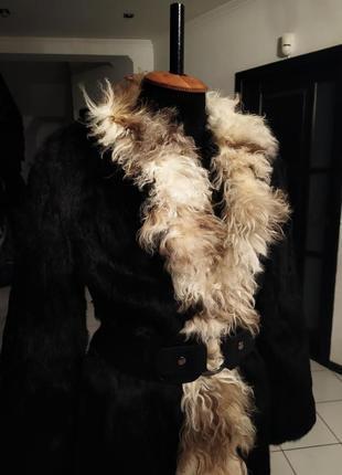 Шуба куртка лама бобрик манто под пояс дубленка полушубок