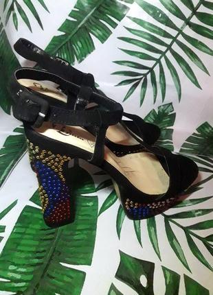 Sale black friday 🖤 роскошные босоножки на толстом каблуке