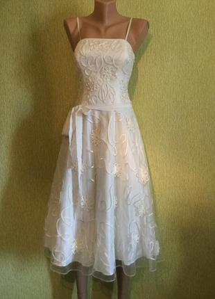 Платье бюстье вечернее на выпускной свадебное moonsoon размер s