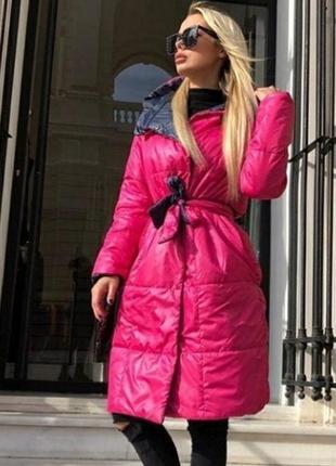 Куртка двусторонняя с поясом!