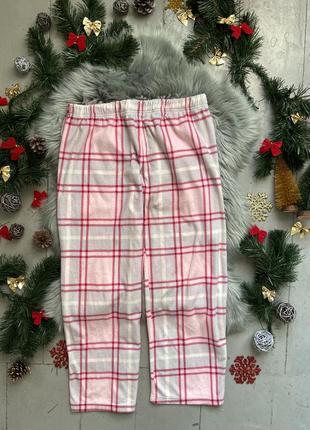 Теплые флисовые домашние брюки штаны №90