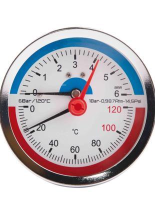 """Термоманометр SD Plus Ø80х1/2"""", заднее подключение"""