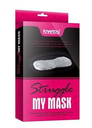 Пушистая маска на глаза