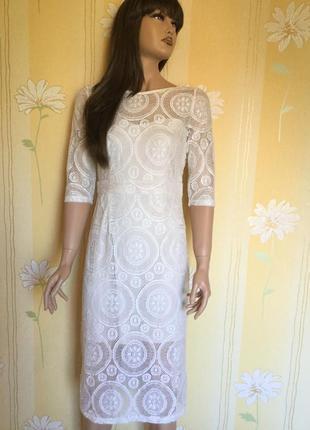 Платье вечернее ажурное boohoo 12 размер