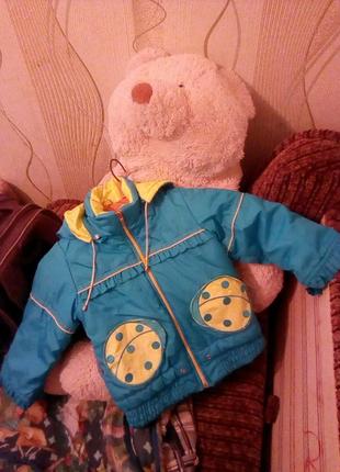 Куртка для девочки 3-4года,божья коровка. Состояние хорошее.