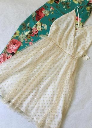 Платье вечернее с фатином miss selfridge размер xs