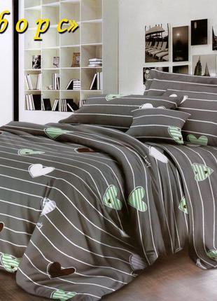 Постельное белье ТЕТ Ранфорс с простынью на резинке (двуспальное)