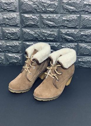 Зимние женские ботинки на каблуке!!!натуральная кожа/овчина!!!...