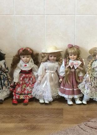Коллекционные фарфоровые куклы the classique-promenade collection