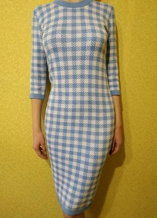 Emma шикарное платье- гольф, платье по фигуре, теплое платье миди