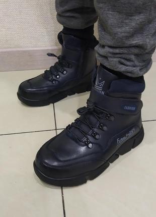 ❄ 👨 зимние теплые ботинки для мальчиков подростков, р. 35