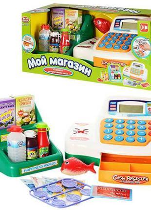 Детский игровой набор Кассовый аппарат 7254 с продуктами и акс...