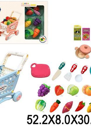 Детский игровой набор Супермаркет - Тележка с продуктами и акс...