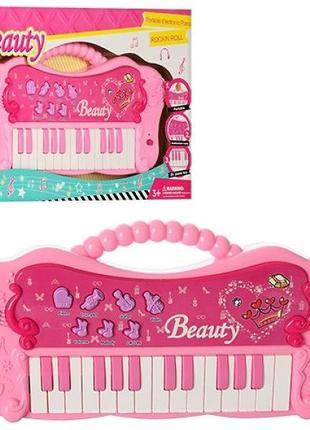 Музыкальная игрушка розовый Синтезатор пианино для девочки A-T...